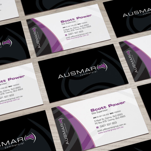 Ausmar Commercial business cards