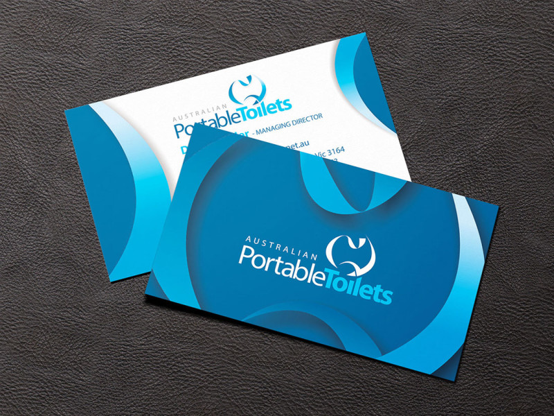 Australian Portable Toilets business cards