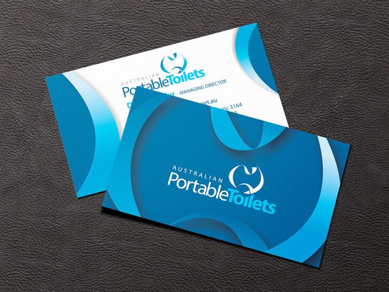 Australian Portable Toilets business cards