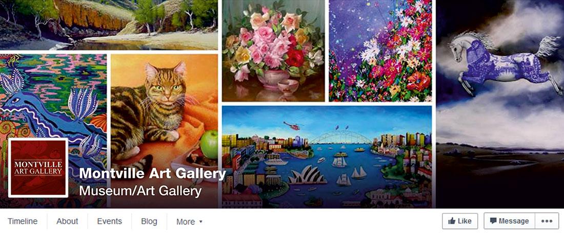Montville Art Gallery Facebook cover image