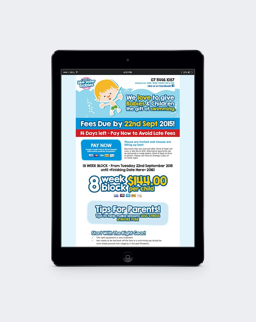 Gina's Blue Water Babies newsletter