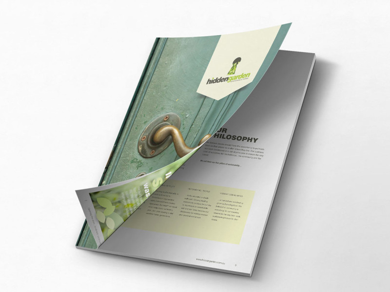 Hidden Garden brochure cover