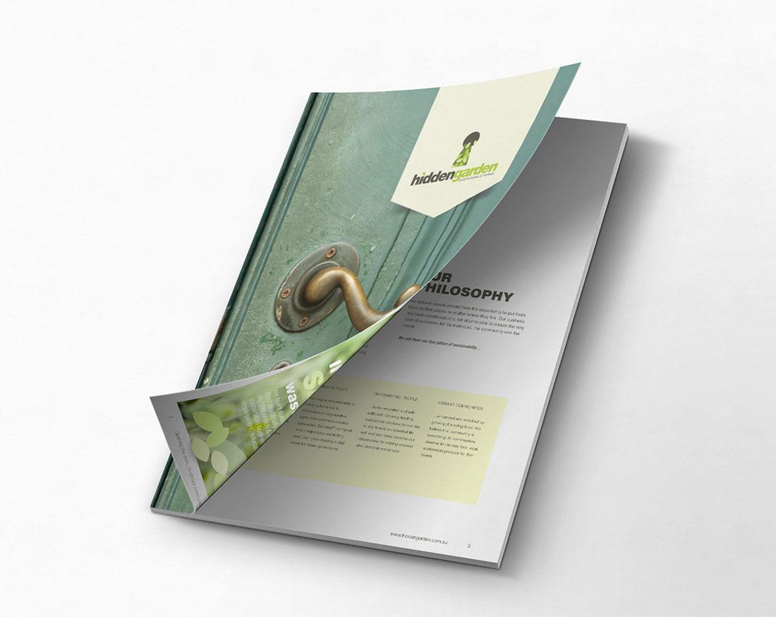 Hidden Garden brochure cover