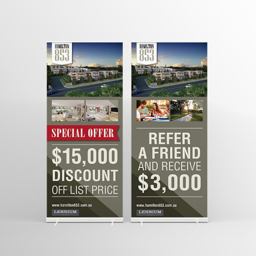 Lennium Group Hamilton pull-up banner
