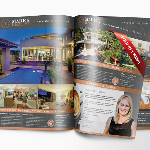 Marek Realty magazine ads