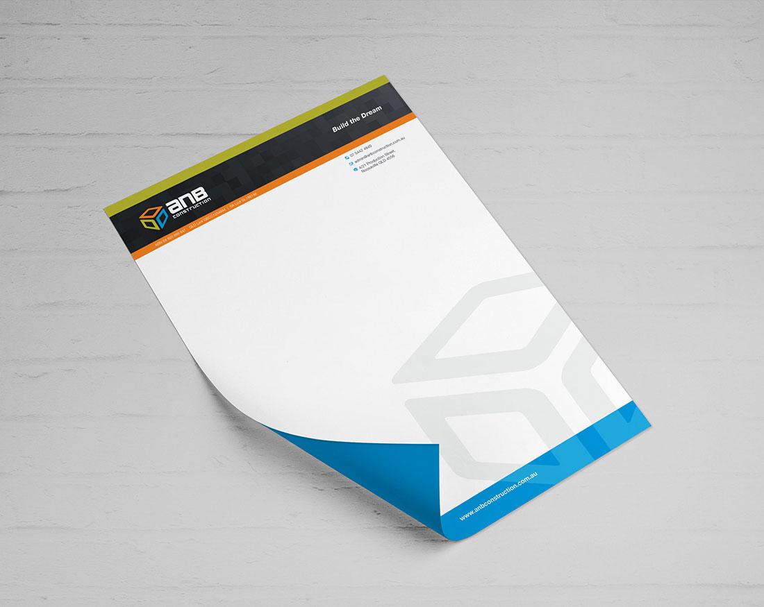 ANB Construction letterhead
