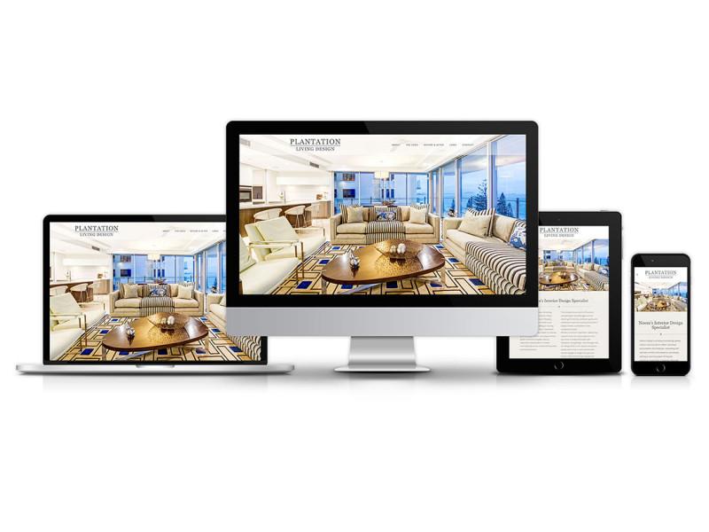 Plantation Living Design website