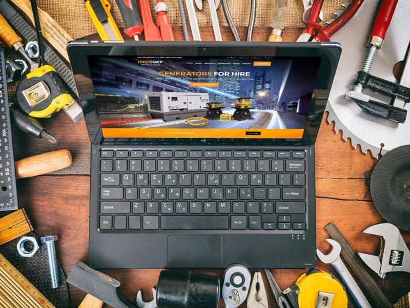 Hirecorp website mockup laptop