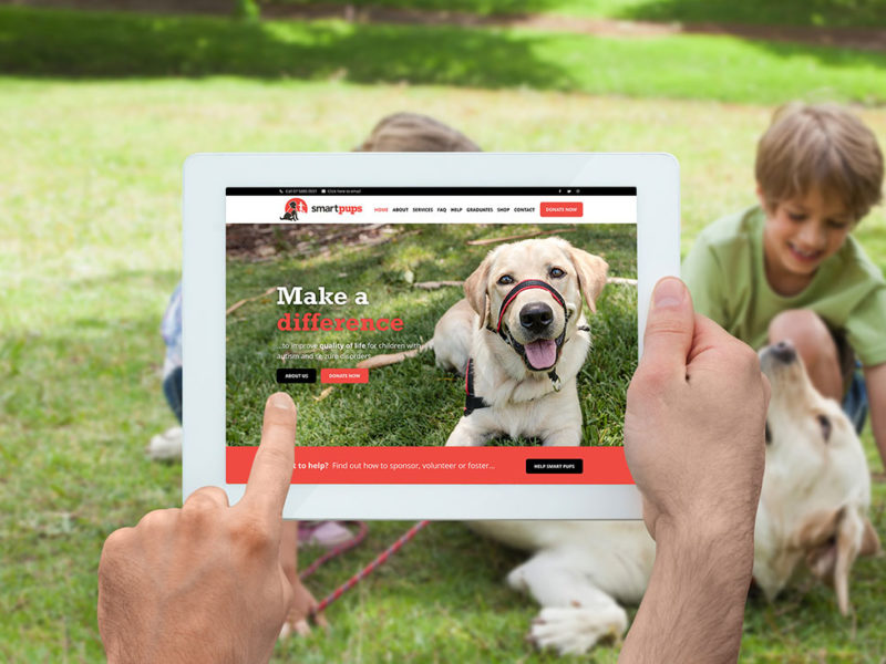 Smart Pups new mobile friendly website