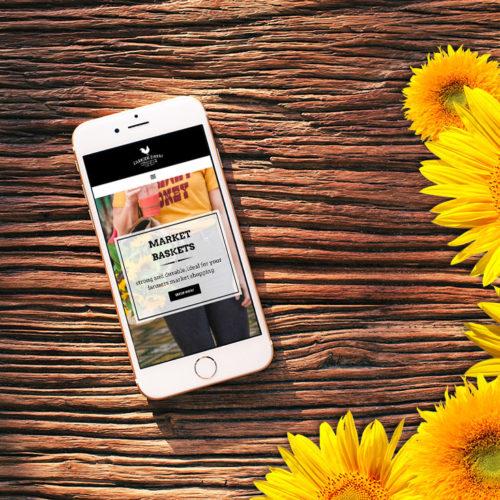 Farmer Drew mobile website