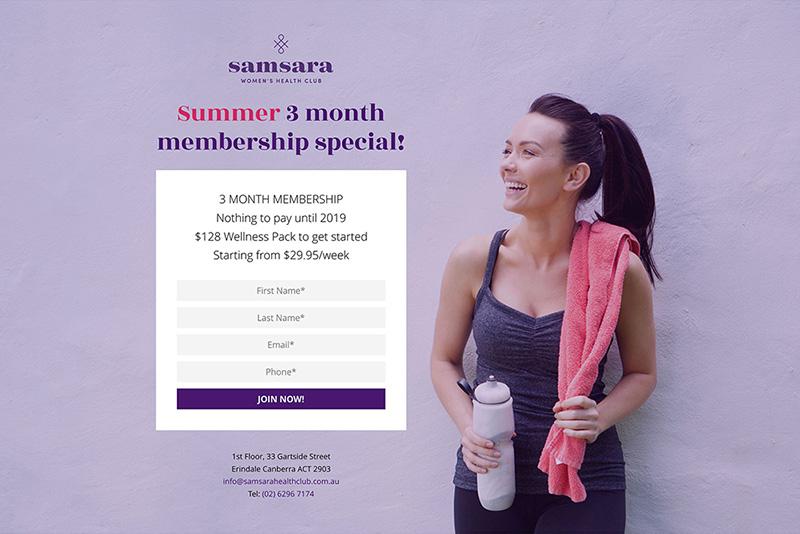 Samsara landing page design