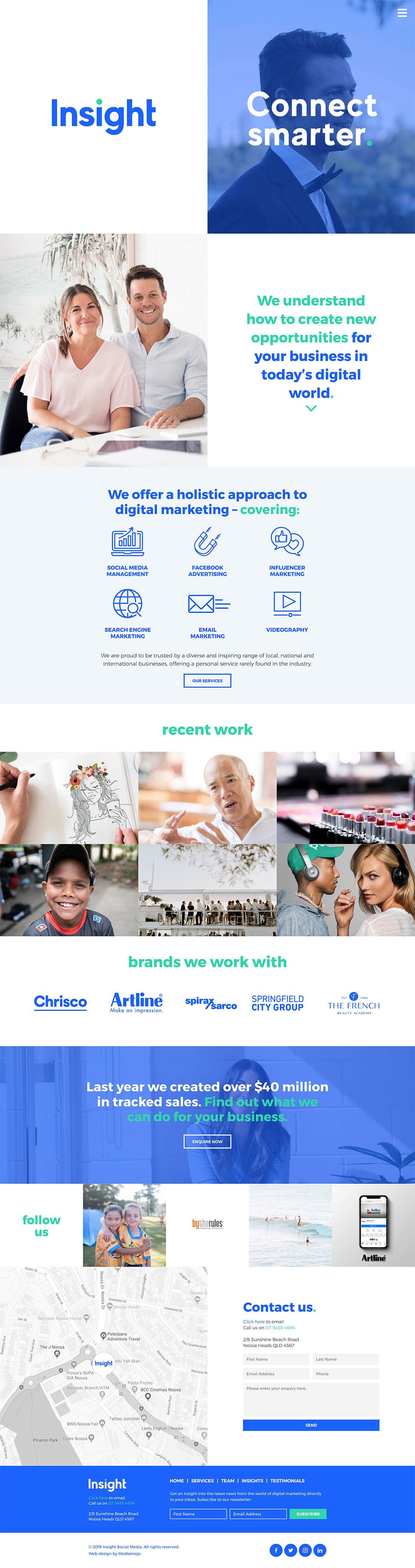 Insight Social Media website design