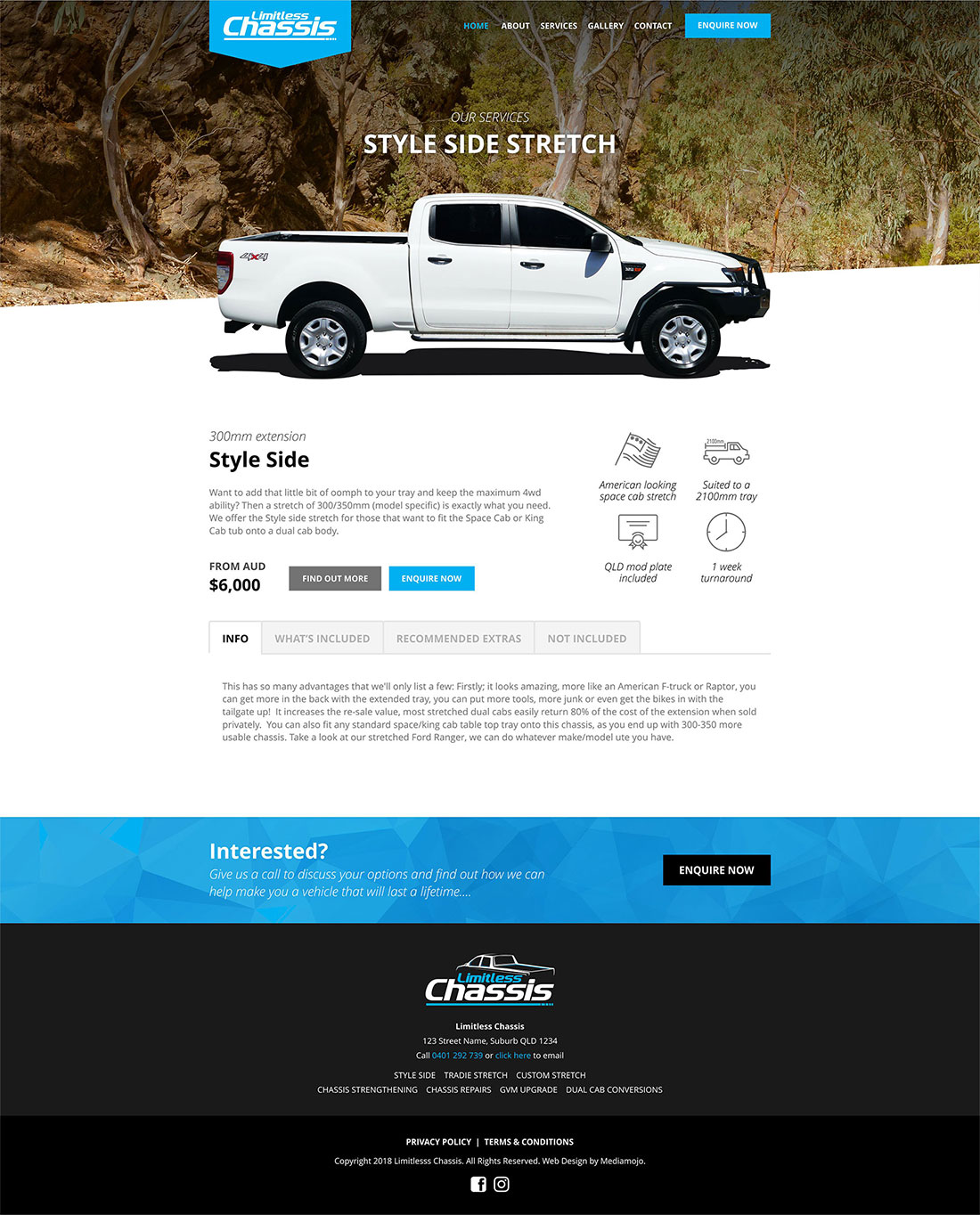 Limitless Chassis website design