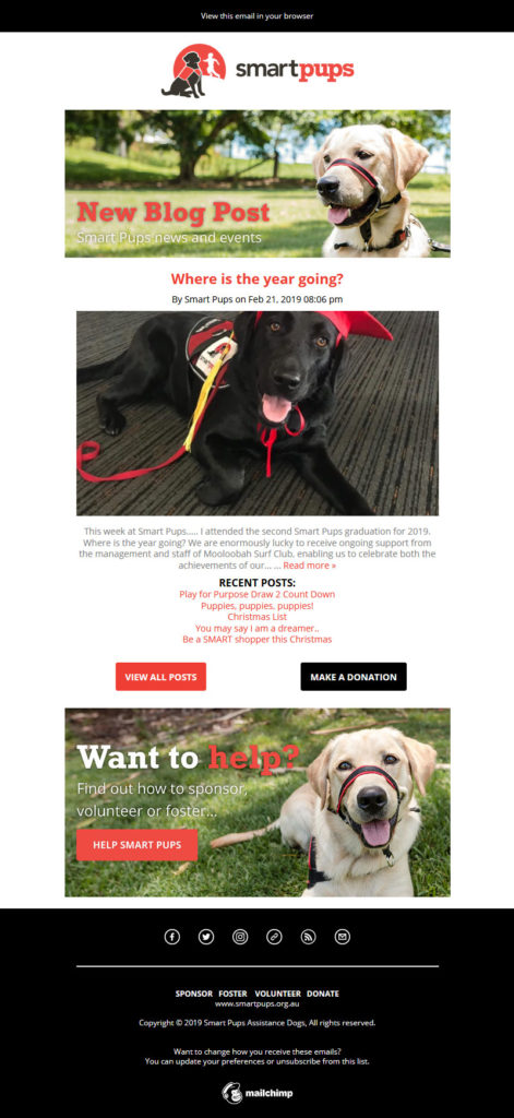 Smart Pups blog email